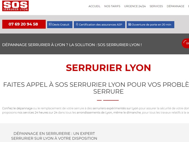 SOS SERRURIER LYON